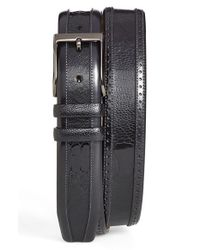Mezlan - Black Ostrich Belt for Men - Lyst