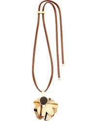 Marni | Metallic Floral-motif Horn Necklace | Lyst