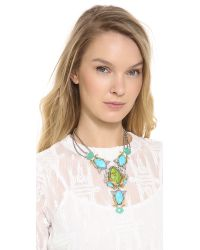 Alexis Bittar | Green Olmeca Bib Necklace  | Lyst