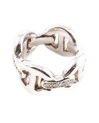 Hoorsenbuhs | White Quad Link Ring | Lyst