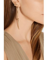 Jennifer Fisher | Metallic Long Loop Gold-plated Earrings | Lyst