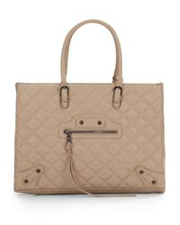 Steve Madden | Natural Zinnia Quilted Tote Bag | Lyst