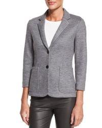 The Row - Gray Naven Wool-jersey Schoolboy Jacket - Lyst