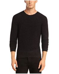 BOSS Orange - Gray 'kampione' | Virgin Wool Melange Sweater for Men - Lyst