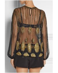Sass & Bide - Black Zero In Embellished Tulle And Faille Playsuit - Lyst