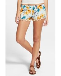 Rip Curl - Blue 'song Bird' Shorts - Lyst