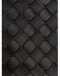 Bottega Veneta - Black Intrecciato Leather Document Holder for Men - Lyst