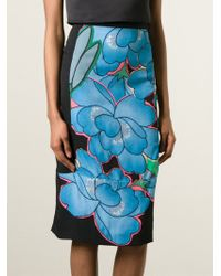 Marni - Multicolor Floral Print Skirt - Lyst