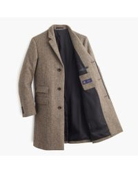 J.Crew - Brown Ludlow Topcoat In Herringbone English Wool for Men - Lyst