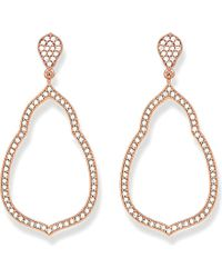 Thomas Sabo | Metallic Fatima's Garden 18k-rose Gold Plated Sterling Silver And White Pavé Zirconia Drop Earrings - For Women | Lyst