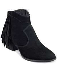 Marc Fisher | Black Sade Ankle Booties | Lyst