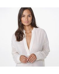 James Perse - White Chiffon Pullover Tunic - Lyst
