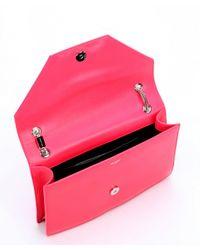 Saint Laurent - Neon Pink Leather Medium 'Betty' Shoulder Bag - Lyst