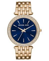 MICHAEL Michael Kors - Metallic Michael Kors 'darci' Round Bracelet Watch - Lyst