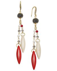 INC International Concepts | Multicolor Beaded Tassel Drop Earrings | Lyst