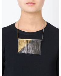 MM6 by Maison Martin Margiela | Metallic Fringed Necklace | Lyst