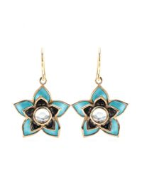 Isharya | Blue Lotus 18kt Goldplated Earrings | Lyst