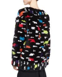 Diane von Furstenberg - Multicolor Printed Mink Fur Sweatshirt - Lyst