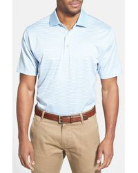 Peter Millar | Blue 'classic Stripe Lisle' Egyptian Cotton Polo for Men | Lyst