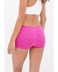 Forever 21 - Purple Space Dyed Workout Shorts - Lyst