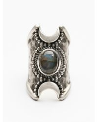 Free People | Metallic Crescent Moons Ring | Lyst