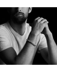 David Yurman | Modern Cable Id Bracelet With Black Diamonds for Men | Lyst