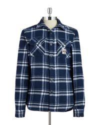 Superdry | Blue Plaid Flannel Button-front Shirt for Men | Lyst