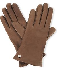 Armani | Brown Nappa Leather Gloves | Lyst