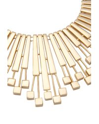 Trina Turk | Metallic Geo Drama Necklace | Lyst