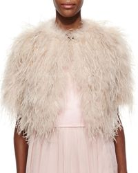Ted Baker | Pink Feather Crop Shrug | Lyst