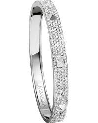 Messika | Metallic Spiky 18ct White-gold Diamond Bangle | Lyst