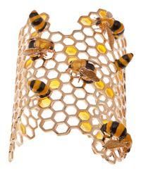Delfina Delettrez - Metallic To Bee Or Not To Be Bracelet - Lyst