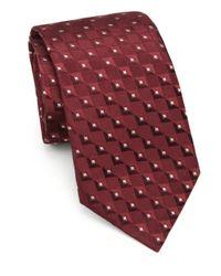 Armani | Purple Square Neat Silk Tie for Men | Lyst