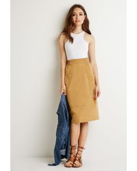 Forever 21 | Natural Front Pockets A-line Skirt | Lyst