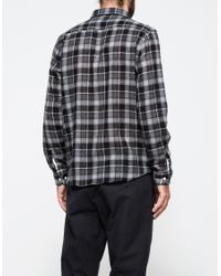 J.Crew - Gray Norse Projects Lightweight Flannel Shirt for Men - Lyst