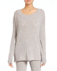 Hanro - Gray Lilou Drop-shoulder Sweater - Lyst