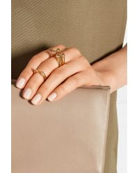Arme De L'Amour | Metallic Set Of Three Gold-plated Rings | Lyst