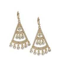 Kate Spade | Metallic Subtle Sparkle Chandelier Earrings | Lyst