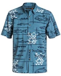 Quiksilver | Blue Waterman Collection Reelin Printed Shirt for Men | Lyst