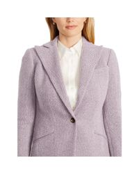 Ralph Lauren | Purple Single-button Wool Jacket | Lyst