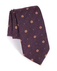 David Donahue - Purple Medallion Silk Tie for Men - Lyst