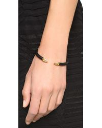 Vita Fede - Black Mini Titan Two Tone Crystal Hexagon Bracelet - Lyst