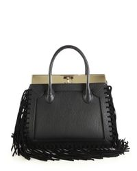 Dee Ocleppo - Black Roma Medium Convertible Fringed Leather Tote - Lyst