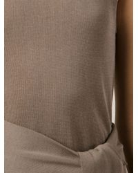 Jarbo - Natural Waist Tie Long Top - Lyst