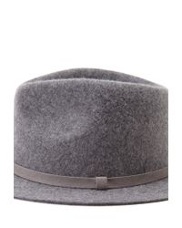 Forever 21 Gray Faux Suede Band Wool Fedora