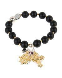 La Perla - Black Bracelet - Lyst