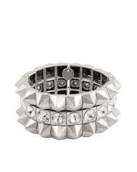 Philippe Audibert | Metallic José Spikes And Strass Cuff | Lyst