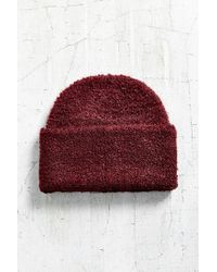 Urban Outfitters | Purple Boucle Wide Cuff Beanie | Lyst