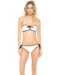 Marc By Marc Jacobs - White Le Shine Bandeau Bikini Top - Lyst