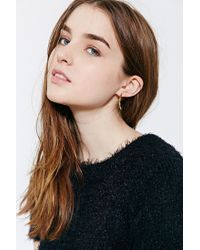 Urban Outfitters - Black 18k Gold & Sterling Silver Ear Climber Earring - Lyst